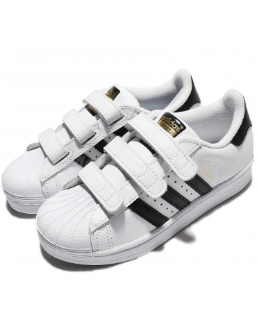chaussure adidas superstar foundation kids blanche