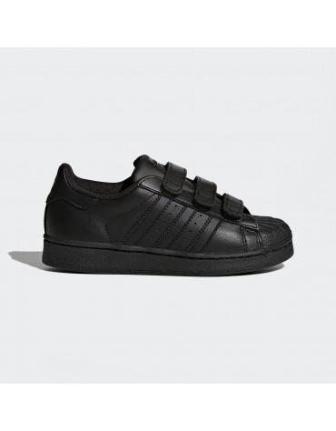 chaussure adidas superstar foundation kids noir