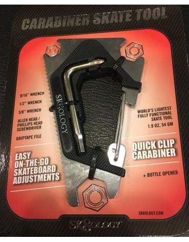 cle de skate sk8ology carabiner 2.0 silver