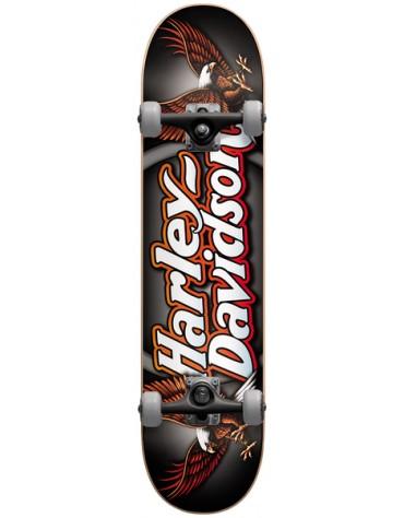 Skate Darkstar Harley davidson 7.25 script silver