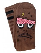 Chaussettes Toy Machine Poo Poo Head Brown