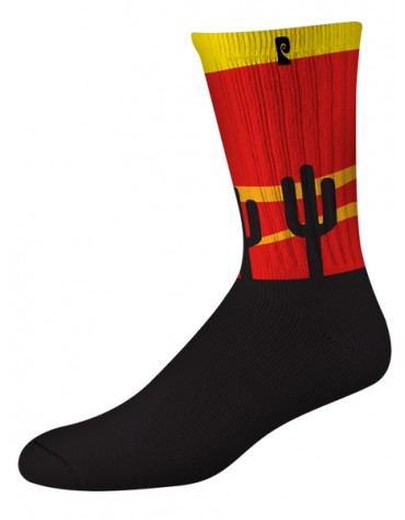 Chaussettes PSOCKADELIC Cactus Black Red