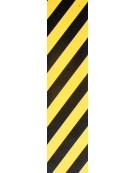 Plaque de grip PIMP Black Yellow Stripe