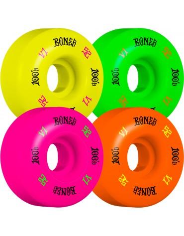 Roues BONES 100's V1 52mm Party Pack !