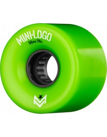 MINI LOGO WHEELS (JEU DE 4) AWOL 59MM X 78A GREEN