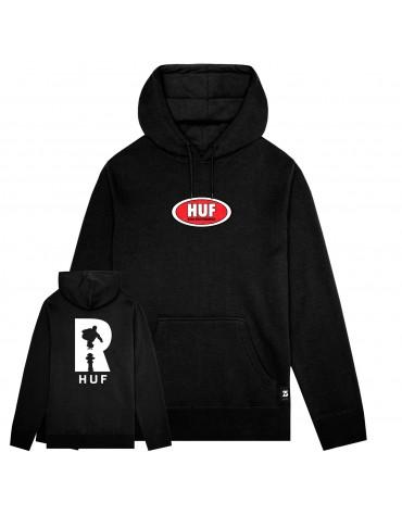 Sweat Hood Black HUF X REAL  L