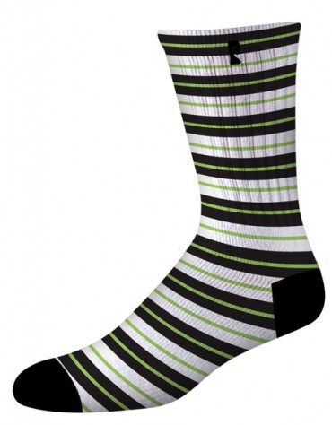 PSOCKADELIC SOCKS STRIPER WHITE BLACK