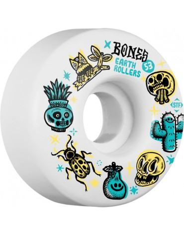 BONES WHEELS (JEU DE 4) STF 53MM V1 SIEBEN EARTH ROLLERS