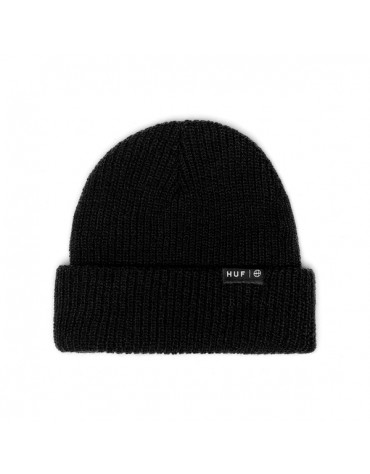 HUF 1 BEANIE USUAL ESSENTIAL BLACK