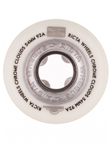 RICTA WHEELS (JEU DE 4) 54MM CLOUDS CHROME BLACK 92A