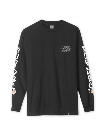 T-Shirt Popeye Smokestack Longsleeves Black L