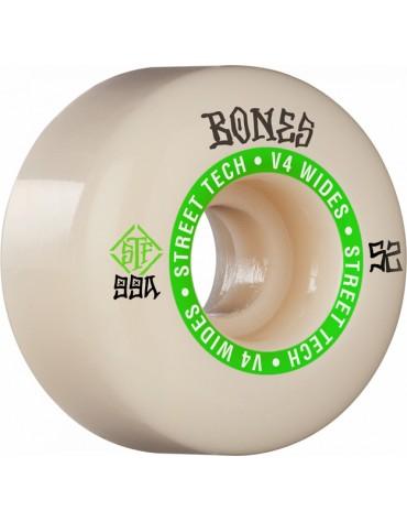 BONES WHEELS (JEU DE 4) STF 52MM V4 NINETY-NINES WIDE 99A