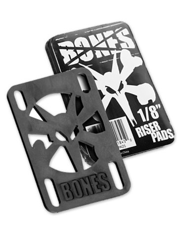 BONES PADS (JEU DE 2) 0.125 HARD BLACK