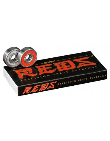 BONES ROULEMENTS (JEU DE 8) REDS