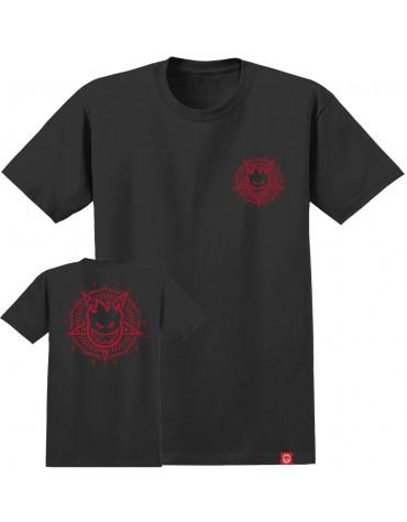 SPITFIRE T-SHIRT SS PENTABURN DOUBLE BLACK RED M