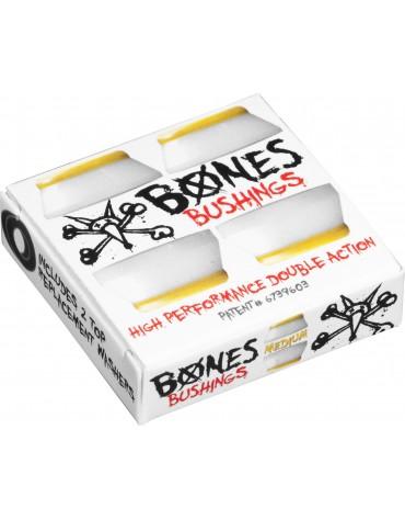 BONES BUSHINGS (JEU DE 4 GOMMES) MEDIUM WHITE