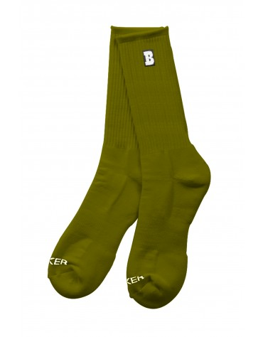BAKER SOCKS CAPITAL B OLIVE
