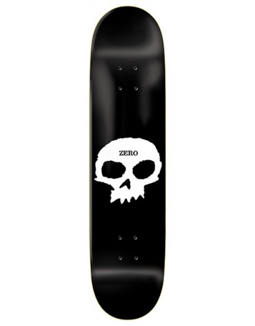 ZERO DECK SINGLE SKULL R7 BLACK WHITE 8.0