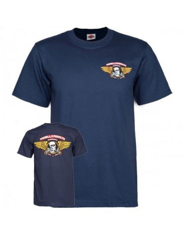 POWELL PERALTA T-SHIRT WINGED RIPPER NAVY