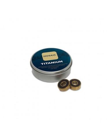 Roulement MOSAIC Super Titanium 1 Abec 7 608RS Black