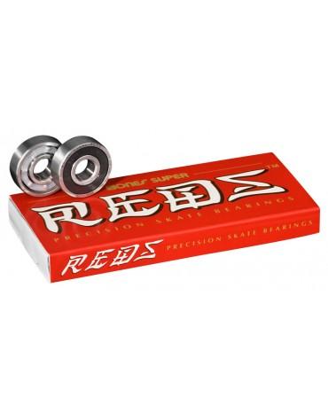 BONES ROULEMENTS (JEU DE 8) SUPER REDS