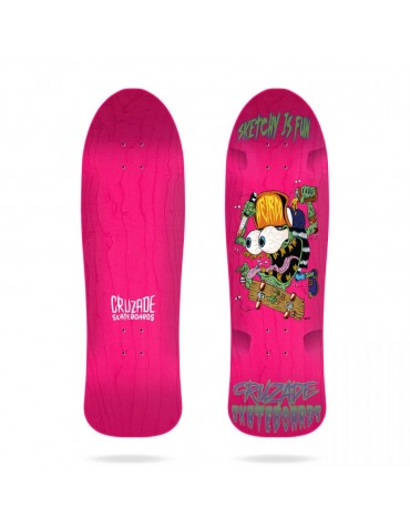 "Cruzade Sketchy Is Fun 9.0"" deck"