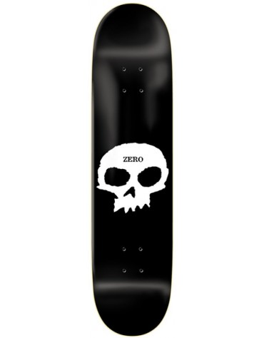 ZERO DECK SINGLE SKULL R7 BLACK WHITE 7.75 X 31.13