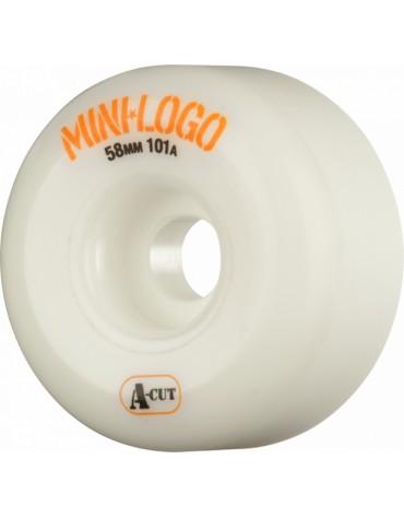 MINI LOGO WHEELS (JEU DE 4) 58MM A-CUT 101A WHITE