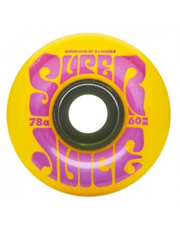 OJ WHEELS (JEU DE 4) 60MM SUPER JUICE YELLOW 78A