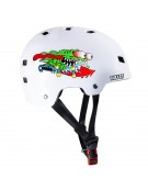 BULLET HELMET JUNIOR (CASQUE ENFANT) SANTA CRUZ SLASHER WHT
