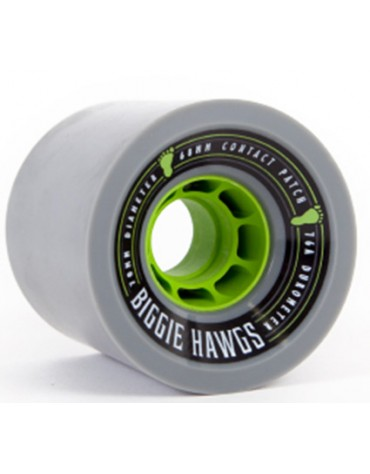 HAWGS WHEELS (JEU DE 4) 70MM BIGGIE 76A GREY