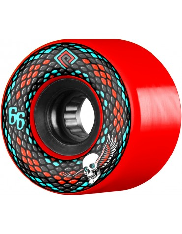 POWELL PERALTA WHEELS (JEU DE 4) 66MM SNAKES RED