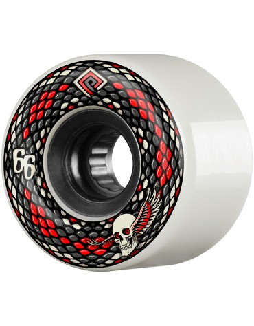 POWELL PERALTA WHEELS (JEU DE 4) 66MM SNAKES WHITE