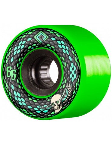 POWELL PERALTA WHEELS (JEU DE 4) 66MM SNAKES GREEN