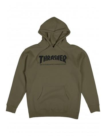 THRASHER SWEAT SKATE MAG HOOD ARMY
