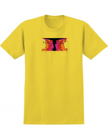 KROOKED T-SHIRT SS FACE OFF YELLOW L
