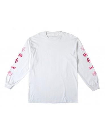 KROOKED T-SHIRT LS NASKAR WHITE L