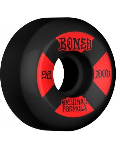 BONES WHEELS (JEU DE 4) 100'S 52MM V5 #4 BLACK SID