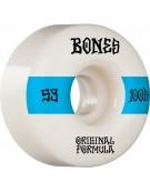 BONES WHEELS (JEU DE 4) 100'S 53MM V4 #14 WHITE WI