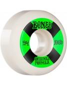 BONES WHEELS (JEU DE 4) 100'S 54MM V5 #4 WHITE SID