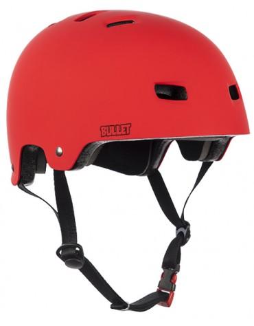 BULLET HELMET (CASQUE) RED MATT S/M