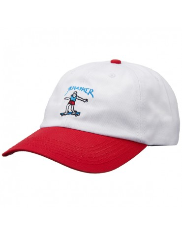 THRASHER CAP GONZ OLD TIMER WHITE RED