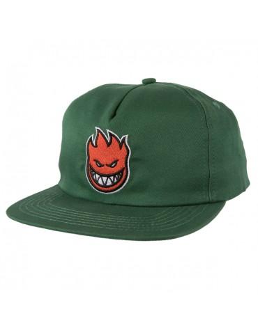 SPITFIRE CAP BIGHEAD FILL SNAPBACK DK GRN RED