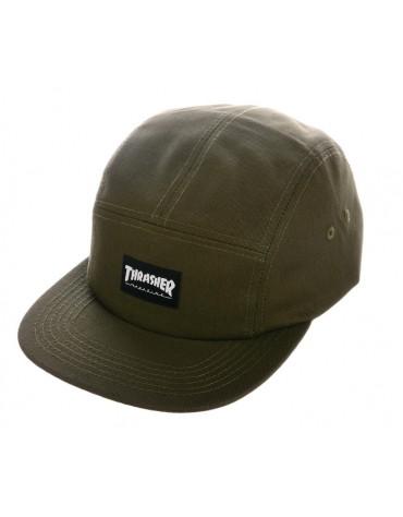 THRASHER CAP THRASHER 5 PANEL ARMY
