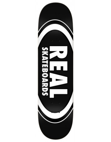 REAL DECK TEAM CLASSIC OVAL BLACK 8.25 X 32