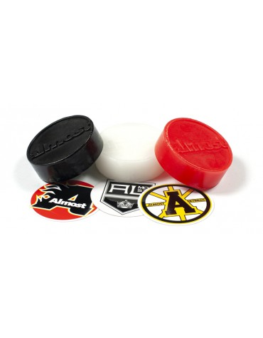 ALMOST WAX PUCK RED WHITE BLACK